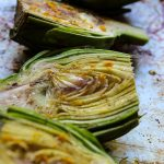 white wine and lemon roasted artichoke halves easy