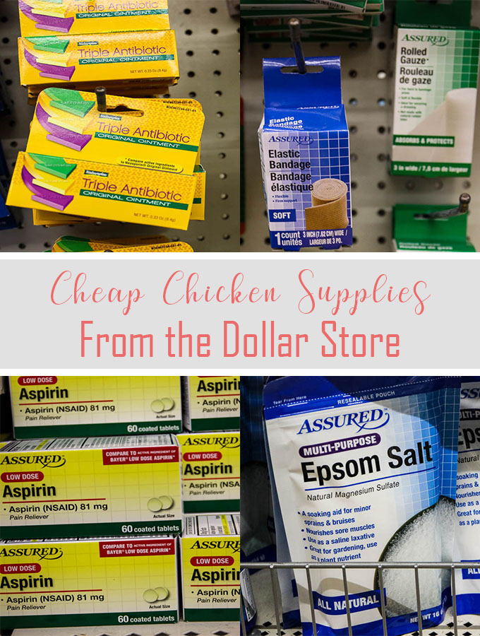 chicken supplies can be found for cheap at the dollar store, making chicken keeping easier and healthier.