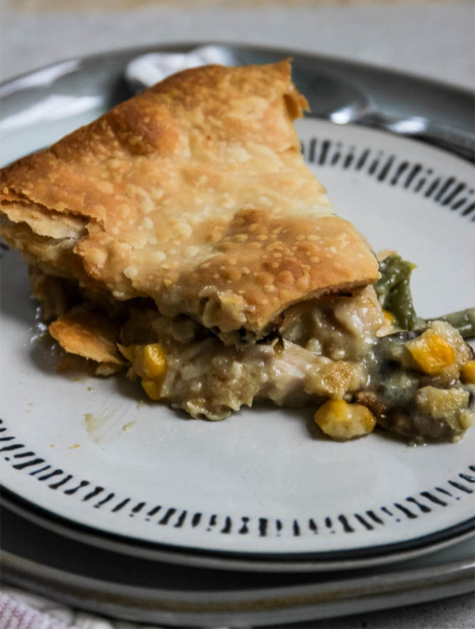 Leftover turkey pot pie is made by combining the best Thanksgiving left overs in one easy pot pie.