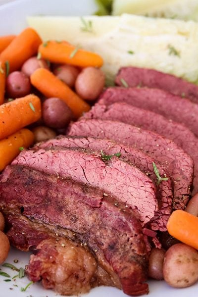 Instant Pot Corned Beef with Cabbage is an easy and delicious St. Patrick's Day dinner that is ready in 90 minutes! With bold aromatic spices, this will be your new favorite meal!