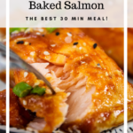 Baked Honey Lime Salmon Pinterest image