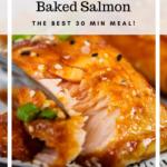 Baked Honey Lime Salmon Pinterest image