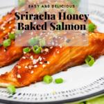 Baked Honey Lime Sriracha Salmon Pinterest image
