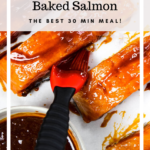 Baked Honey Lime Sriracha Salmon Pinterest image