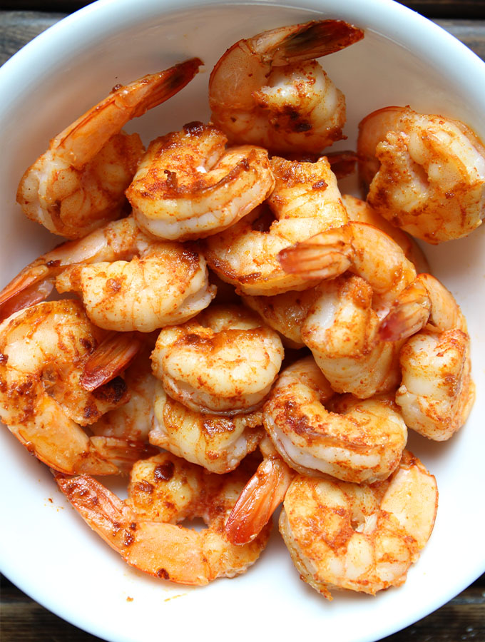 Shrimp is pan roasted with paprika and garlic to make thisShrimp and Tortellini with Beurre Blanc.