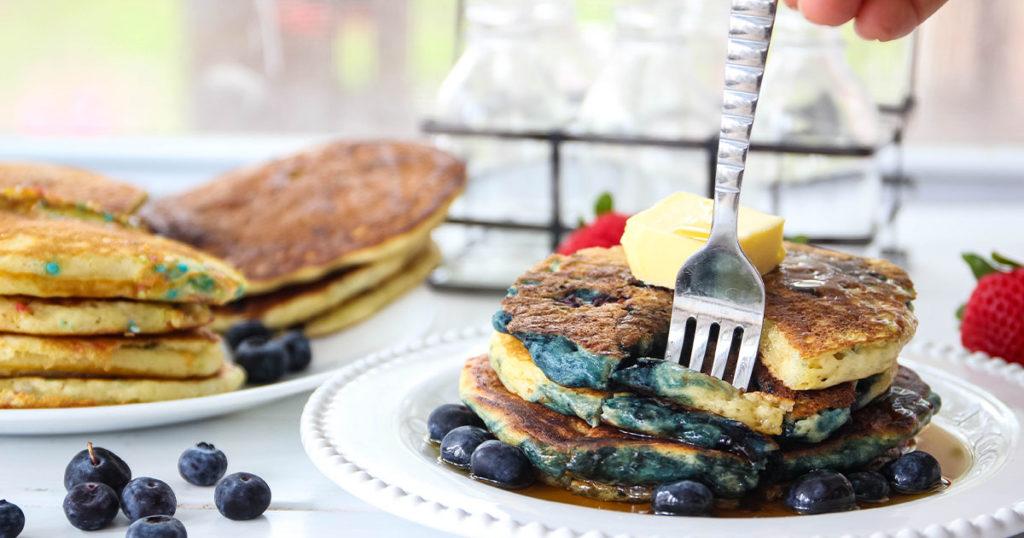 Fluffy buttermilk pancake facebook image.
