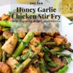 Honey Garlic Chicken Stir Fry pinterest graphic