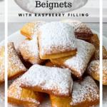 Classic beignet recipe pinterest graphic.