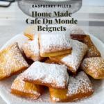 New Orleans beignet recipe pinterest graphic.