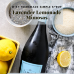 Lavender lemonade mimosas Pinterest graphic.