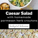 Caesar salad Pinterest graphic.