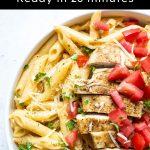 Creamy Cajun Chicken Pasta Pinterest graphic.