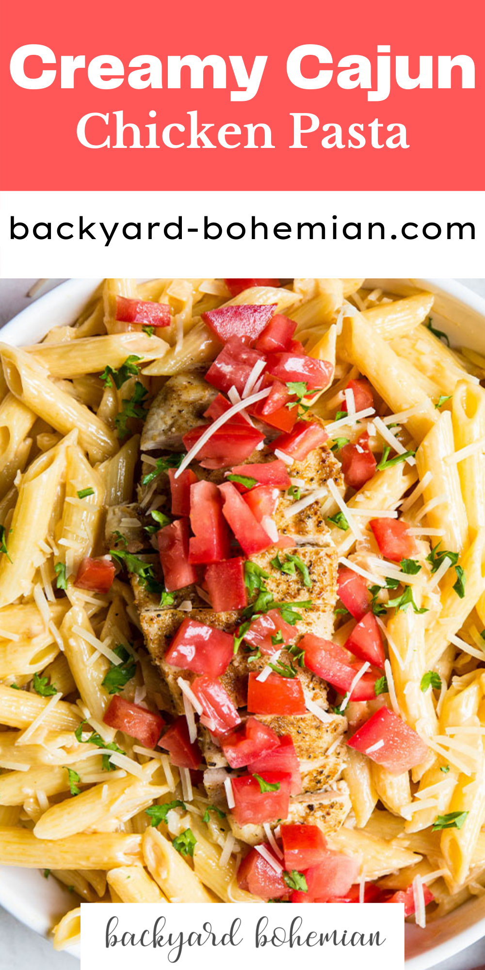 This easy to make Cajun chicken pasta is loaded with flavor, healthy ingredients, and is ready in 20 minutes! via @foodhussy