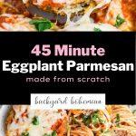 Eggplant parmesan Pinterest image.