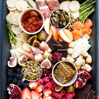 Valentine's Day charcuterie board is made with aphrodisiacs to set the mood.