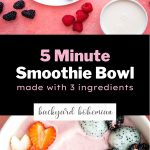 Easy 5 Minute Smoothie Bowl Pinterest image.