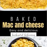 Baked Mac and Cheese Pinterest image.
