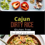 Cajun Dirty Rice Pinterest image.