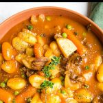 Gnocchi Beef Stew Pinterest graphic.