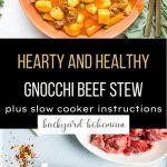 Gnocchi Beef Stew Pinterest graphic.