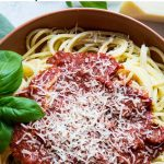 Red Wine Pasta Sauce Pinterest graphic.