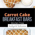 Carrot Cake Breakfast Bars Pinterest image.