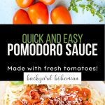 Pomodoro Sauce Pinterest image.