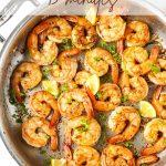 Cajun shrimp Pinterest graphic.