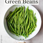 Sauteed Green Beans Pinterest graphic.